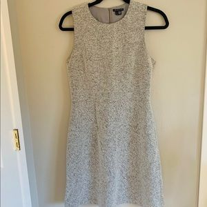 THEORY Grey Flannel Shift Dress